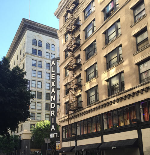The Alexander Hotel: halfway between the train station and the Cal S of S office.